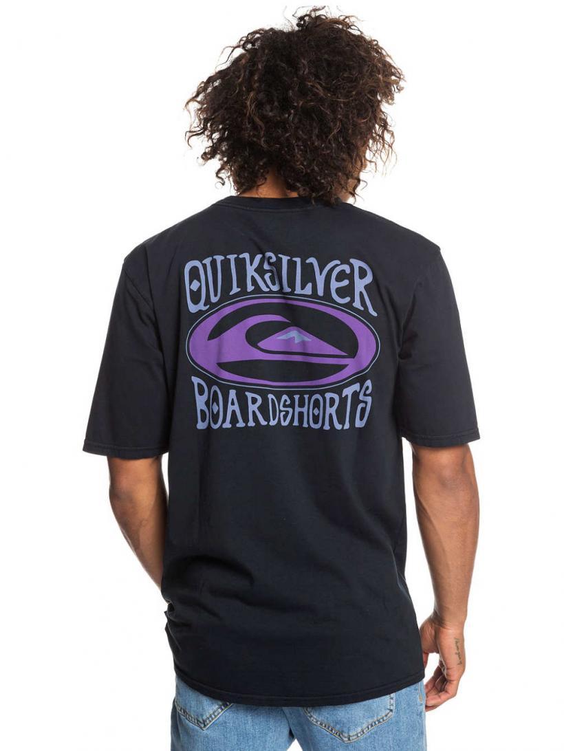 Quiksilver Cosmic Patient T-Shirt Black | Mens T-Shirts