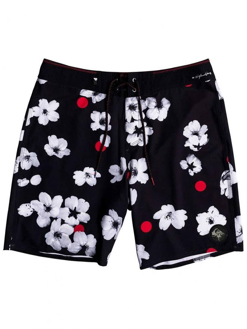 Quiksilver Highline Cherry Pop 19″ Boardshorts Black | Mens Swimwear