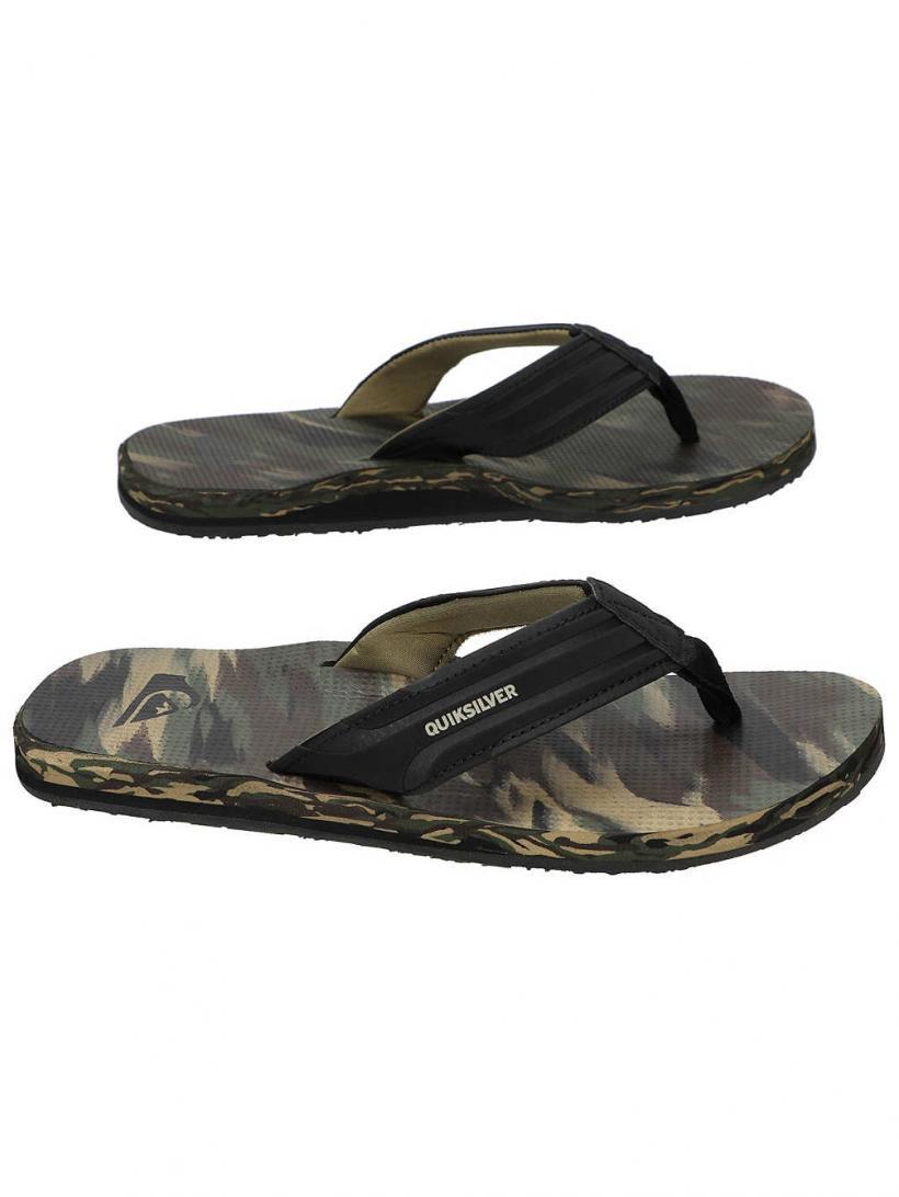 Quiksilver Island Oasis Black/Brown/Green | Mens Sandals