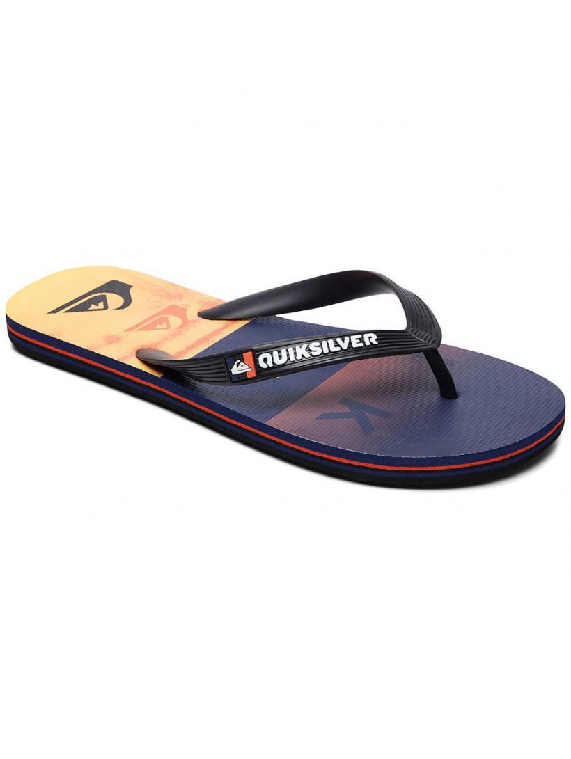 Quiksilver Molokai Wordblock Volley Black/Orange/Blue | Mens Sandals