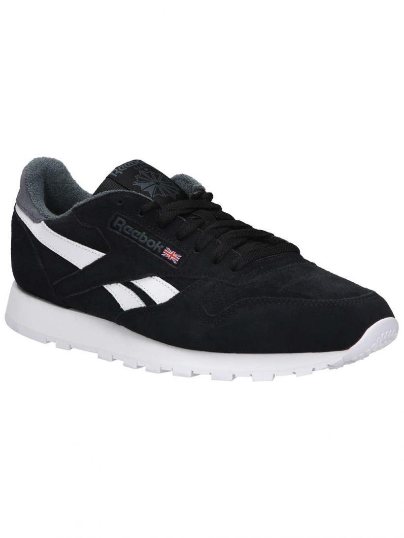 Reebok Classic Leather Estl Black/True Grey | Mens Sneakers
