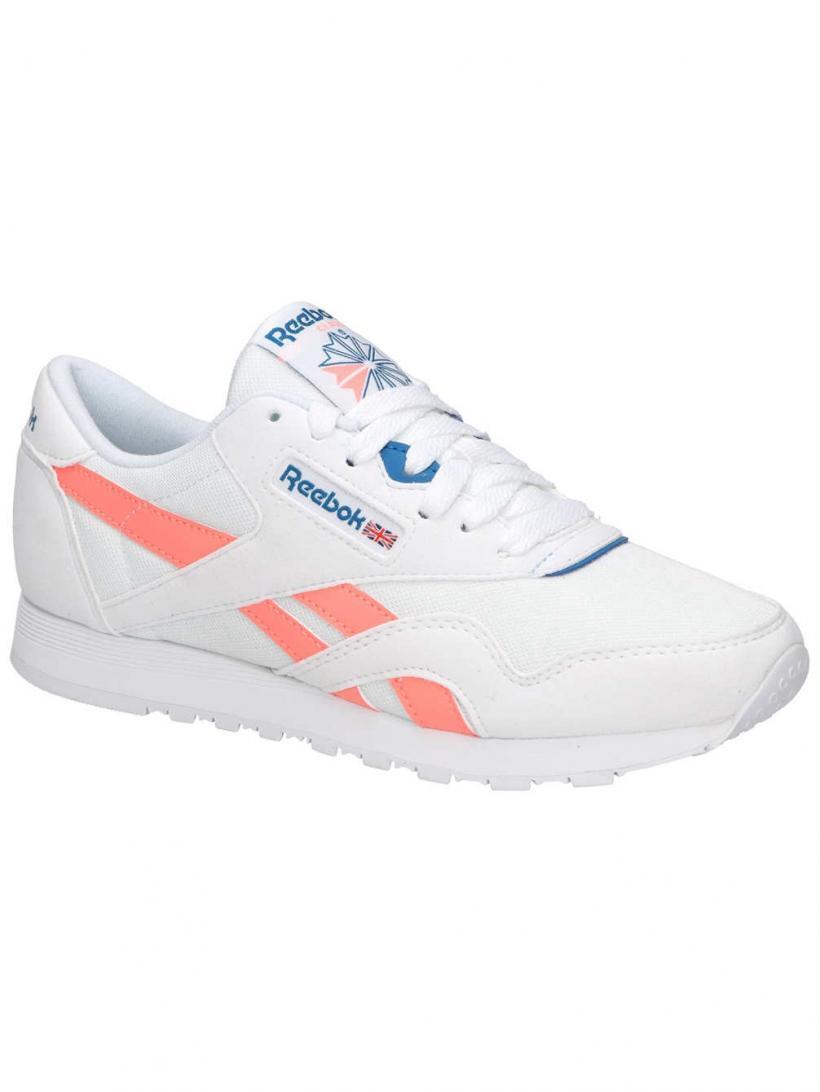 Reebok Classic Nylon OG Retro White/Digital Pink/ | Mens/Womens Sneakers