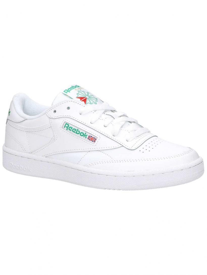 Reebok Club C85 Int/White/Green | Mens Sneakers