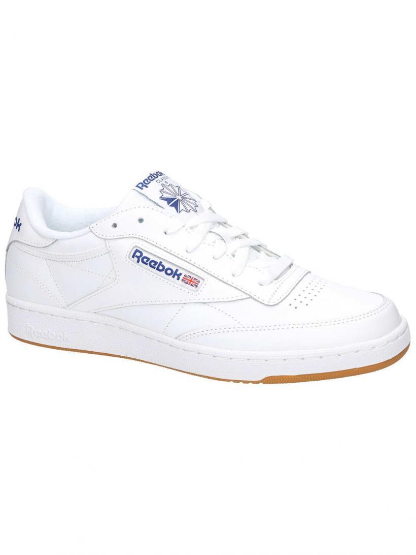 Reebok Club C85 Int/White/Royal/Gum | Mens Sneakers