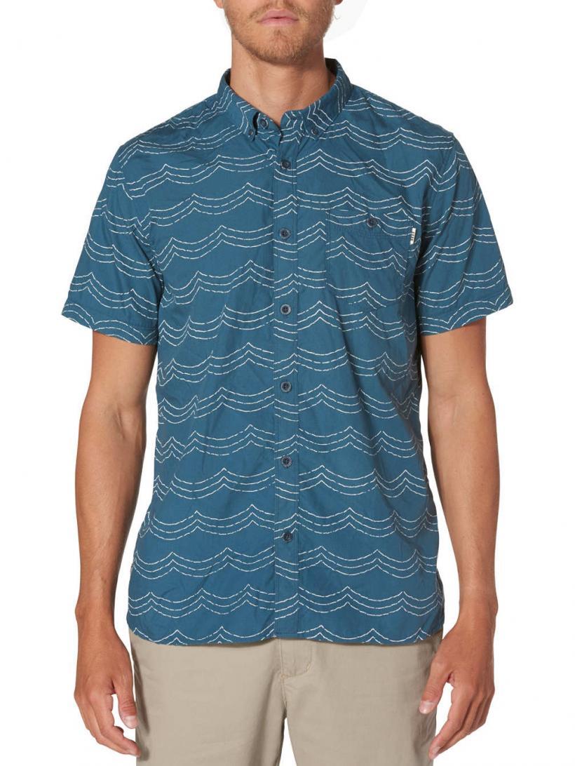 Reef Futures Shirt Indigo | Mens Shirts