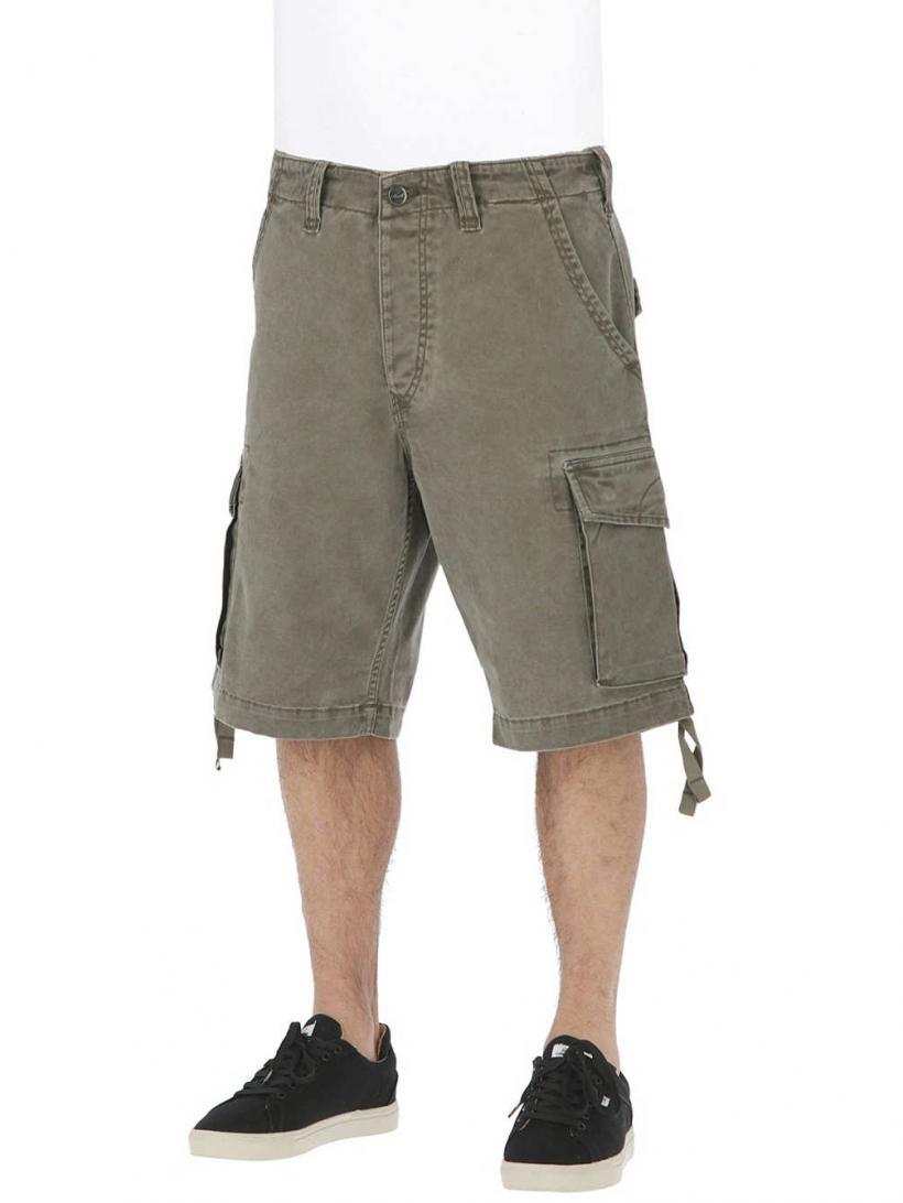 REELL New Cargo Shorts Aqua Olive   Mens Shorts
