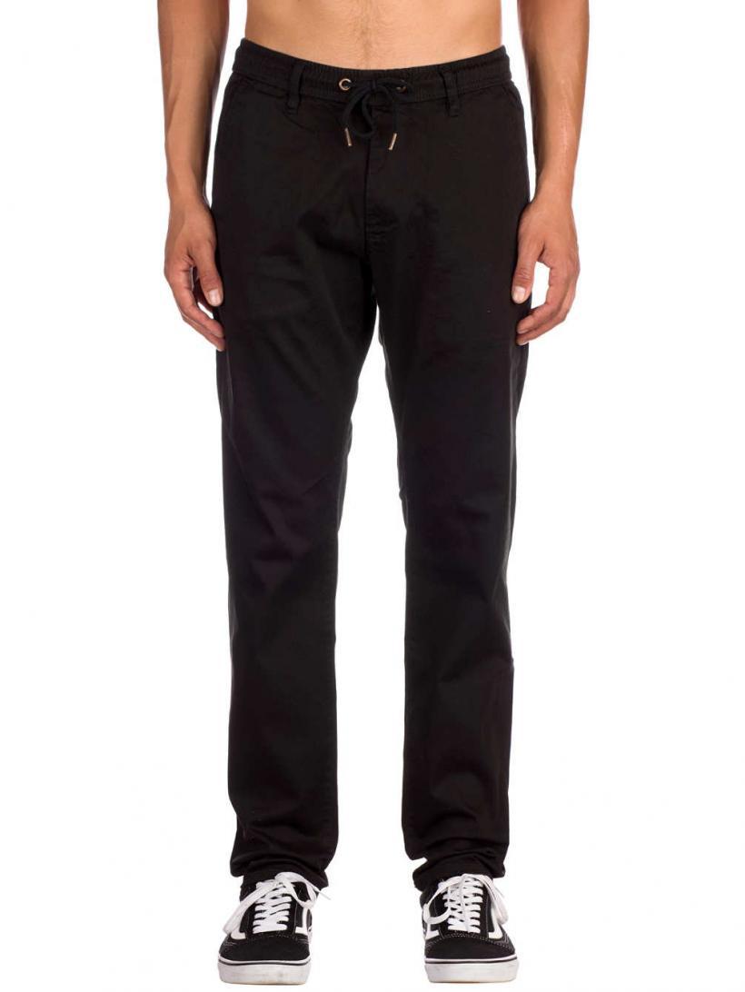 REELL Reflex Easy Straight Pants Black | Mens Chino Pants