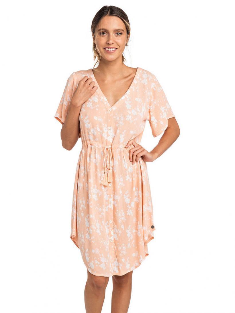 Rip Curl Daisy Kington Dress Peach Nectar | Womens Dresses
