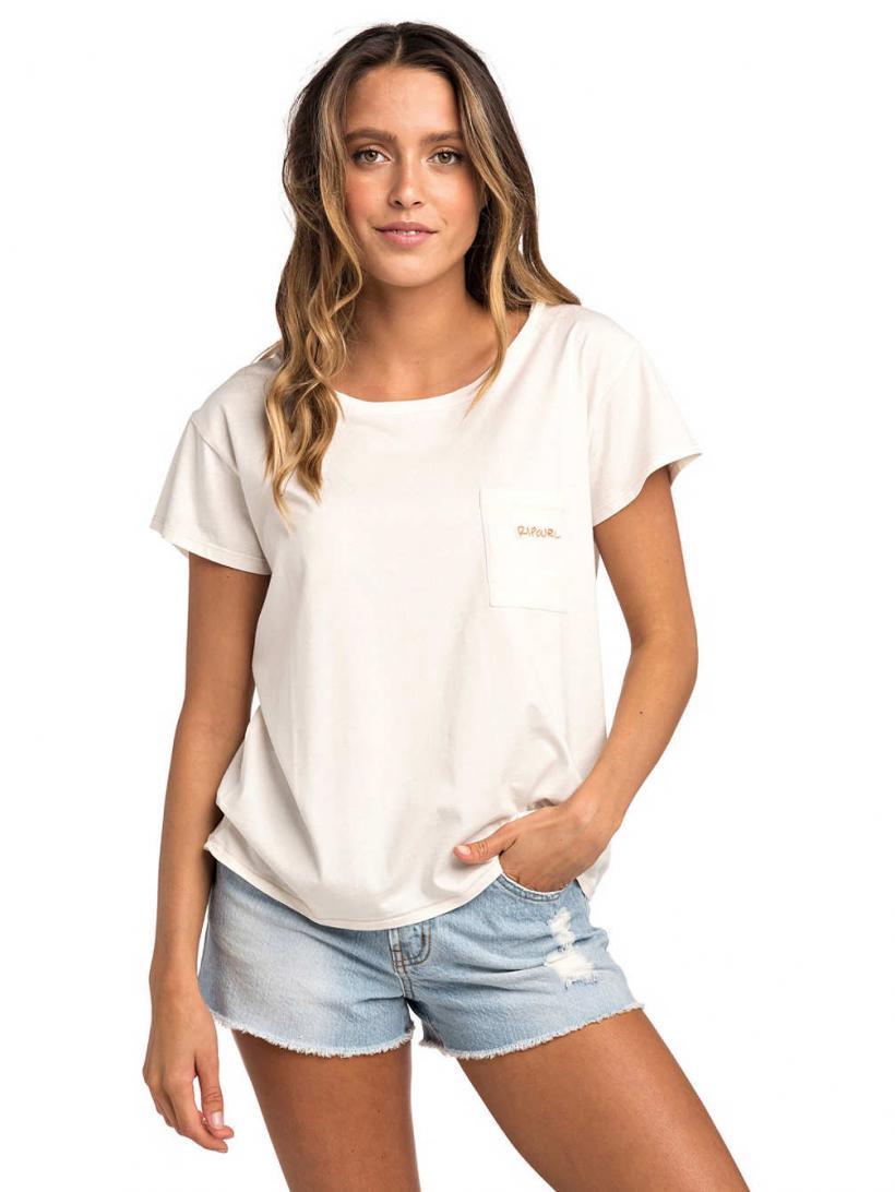 Rip Curl Sunset Beach T-Shirt Sea Salt | Mens/Womens T-Shirts