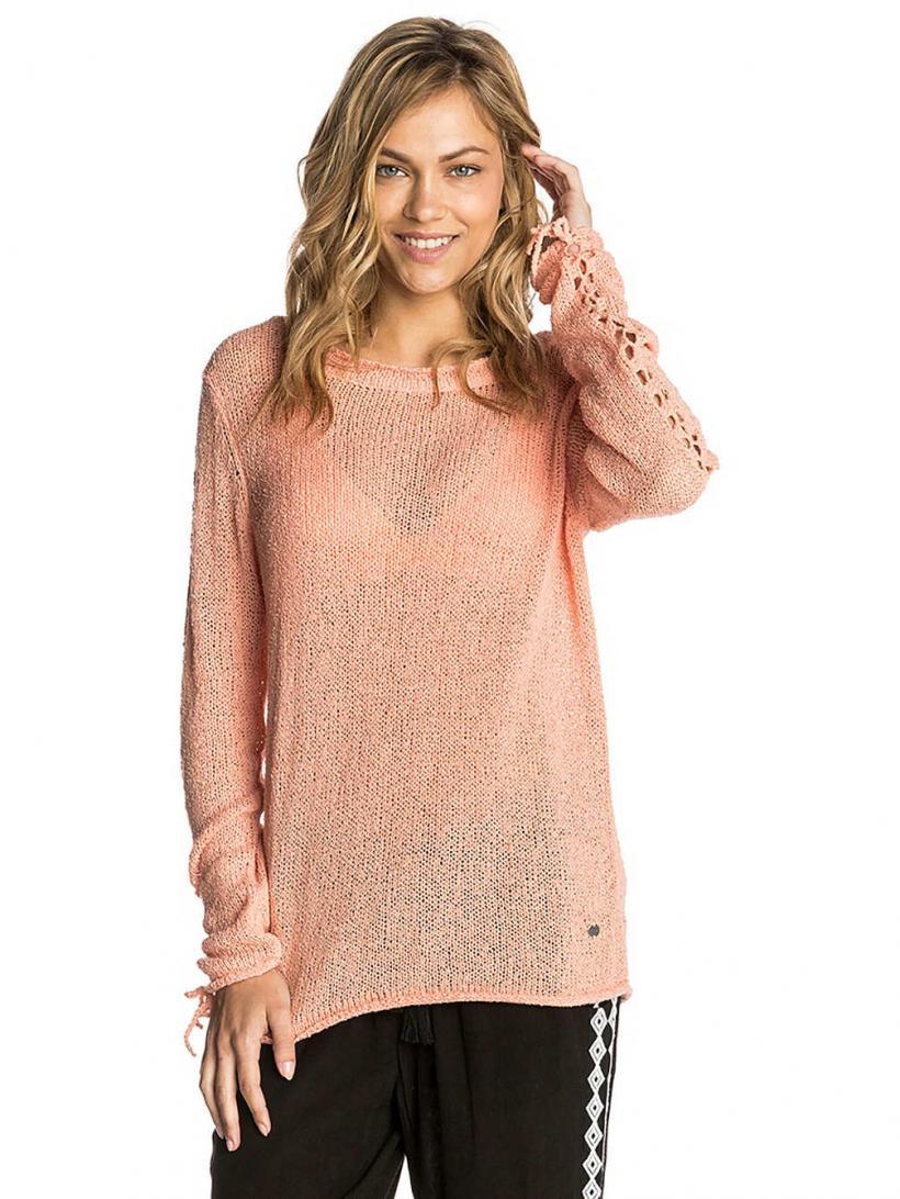 Rip Curl Trinity Sweater Peach Nectar | Womens Pullovers