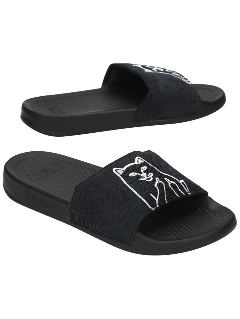 Rip N Dip Lord Nermal Slides Black   Mens/Womens Sandals