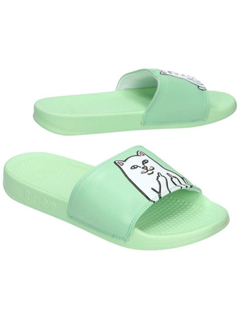 Rip N Dip Lord Nermal Slides Mint Green   Mens/Womens Sandals