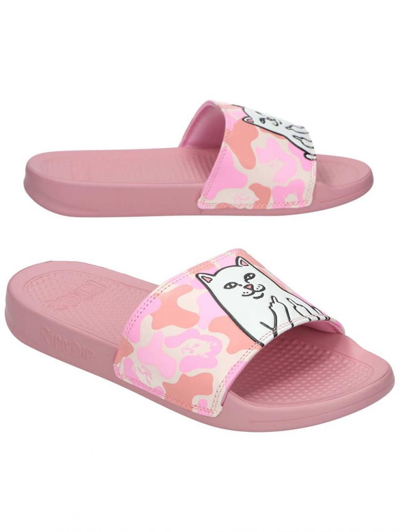 Rip N Dip Lord Nermal Slides Pink Camo | Mens/Womens Sandals