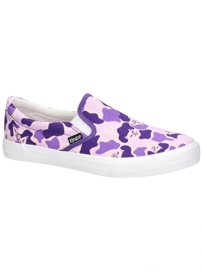 Rip N Dip Slip-Ons Purple Camo | Mens Slip-Ons