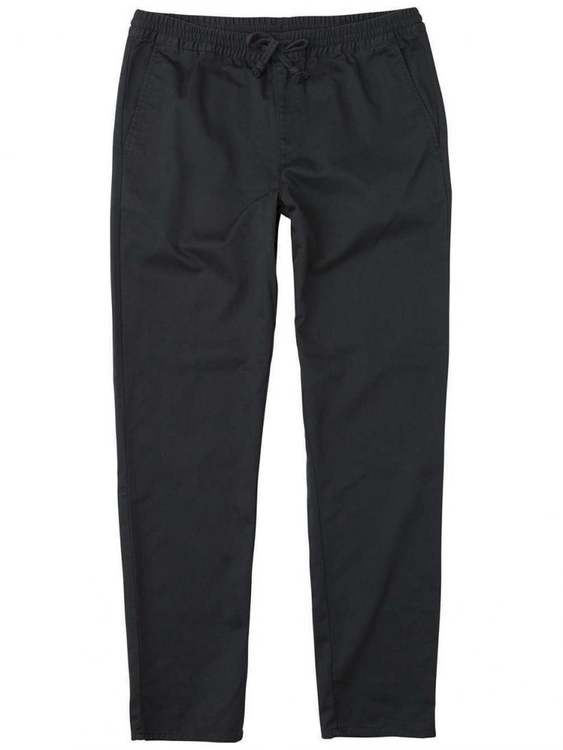 RVCA A.T Dayshift Elastic Pants Pirate Black | Mens Chino Pants
