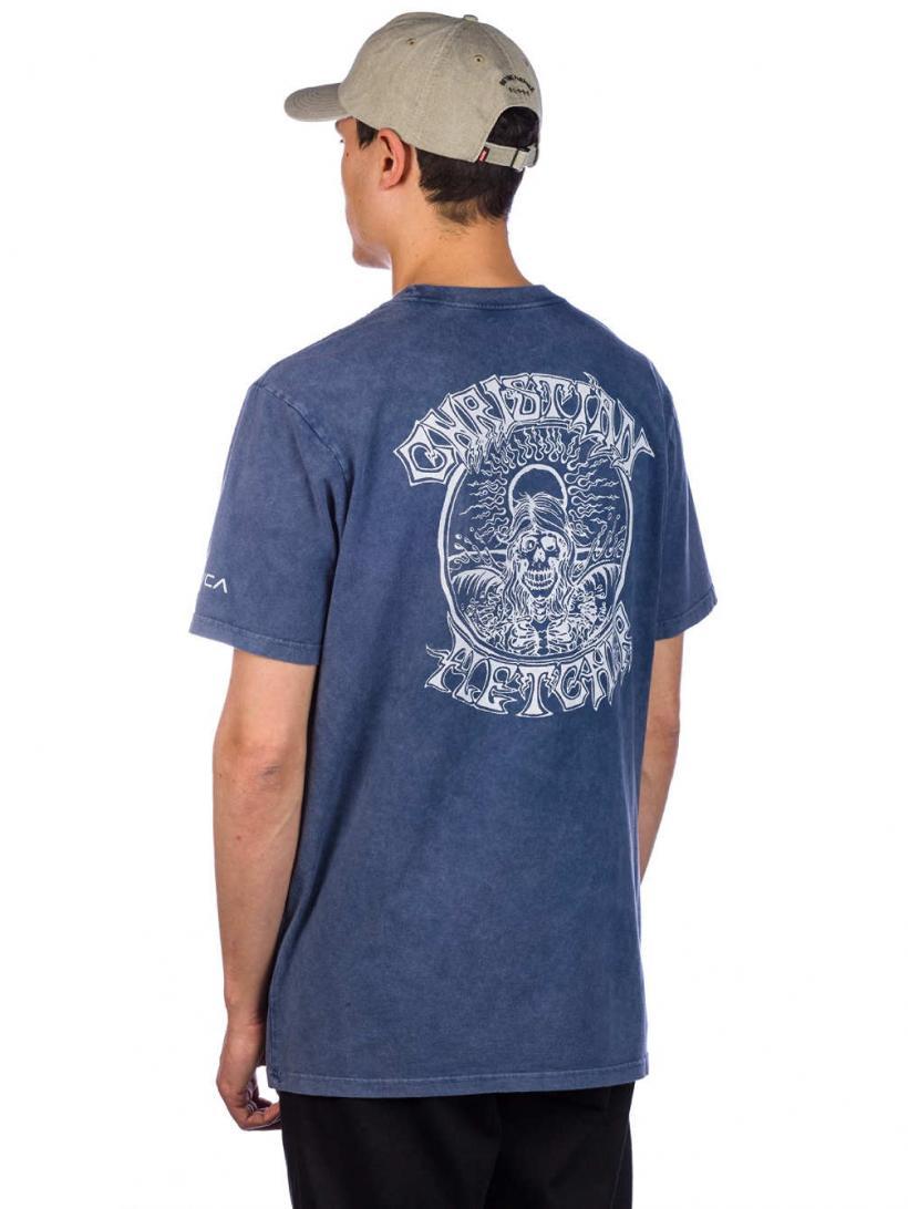 RVCA Fletcher Acid T-Shirt Seattle Blue | Mens T-Shirts