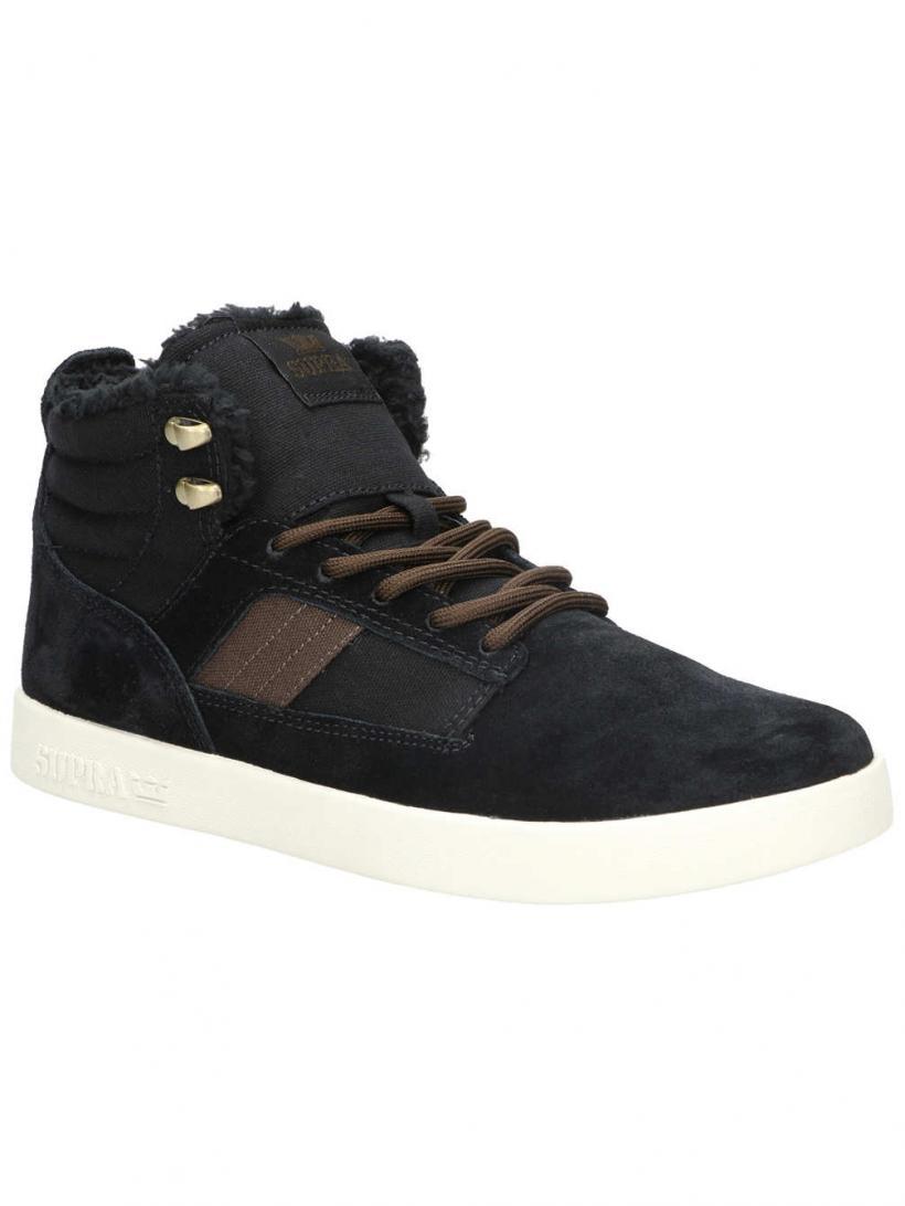 Supra Bandit Black/Bone Suede   Mens Winter Shoes