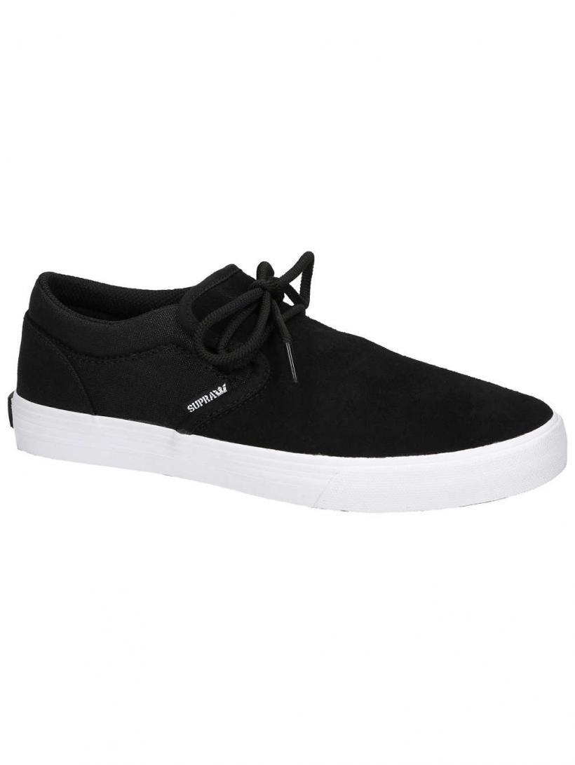 Supra Cuba Black/White   Mens Skate Shoes