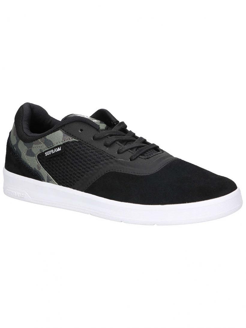 Supra Saint Black/Camo/White   Mens Skate Shoes