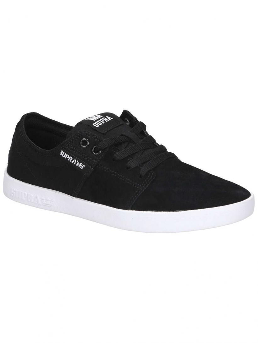 Supra Stacks II Black/Grey/White   Mens Skate Shoes
