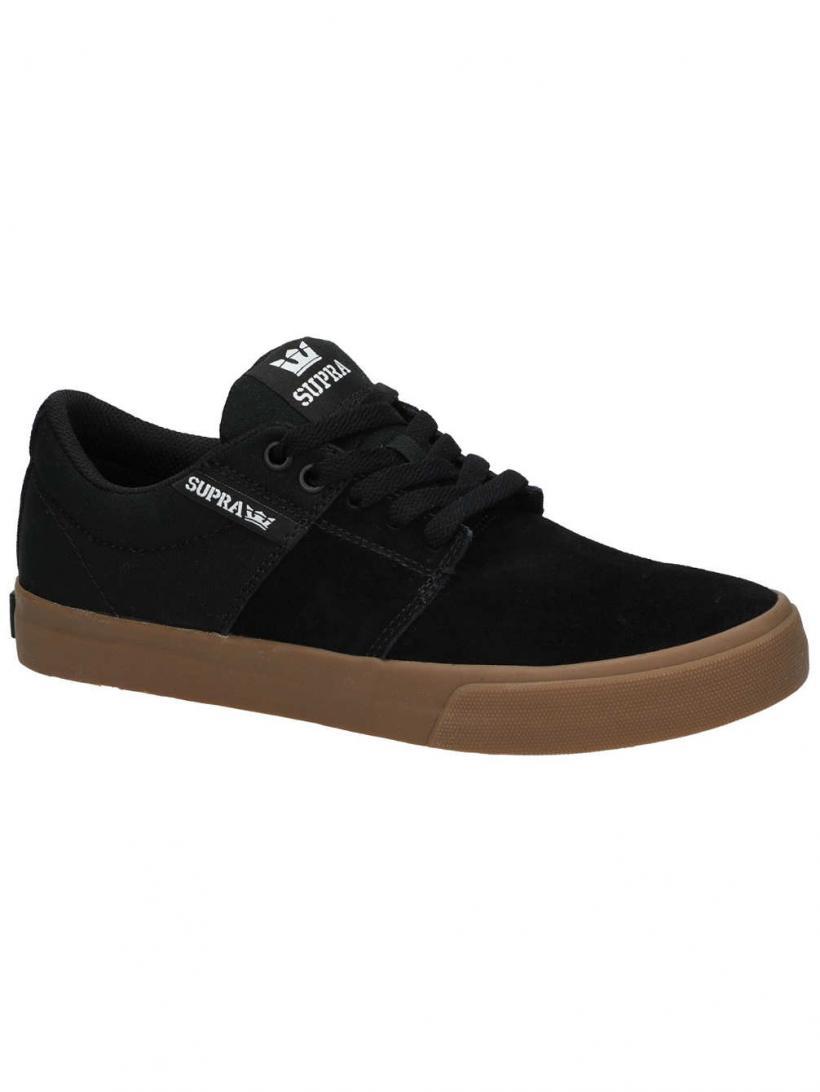 Supra Stacks Vulc II Black/Gum   Mens Skate Shoes
