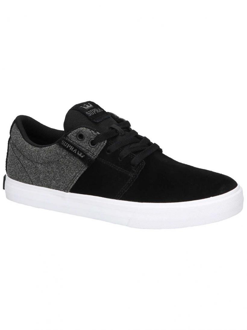 Supra Stacks Vulc II Black/White/Black | Mens Skate Shoes
