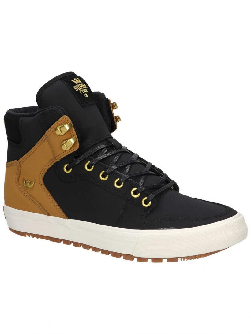Supra Vaider Cold Weather Black/Tan/Bone | Mens Sneakers