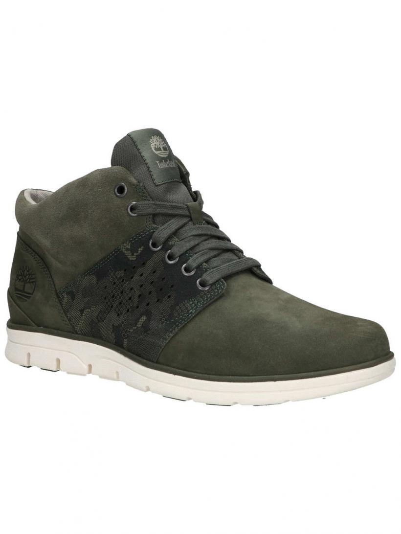 Timberland Bradstreet Half Cab Dark Green Nubuck | Mens Winter Shoes