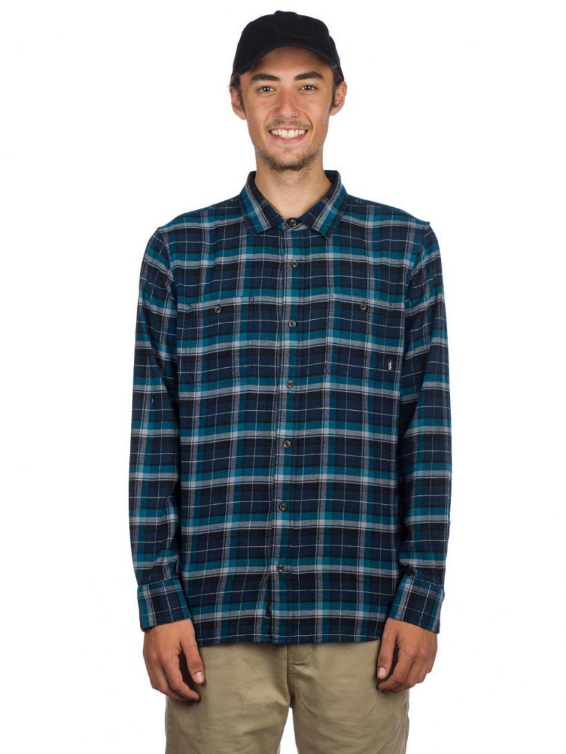 Vans Banfield III Shirt LS Dress Blues/Corsair | Mens Shirts
