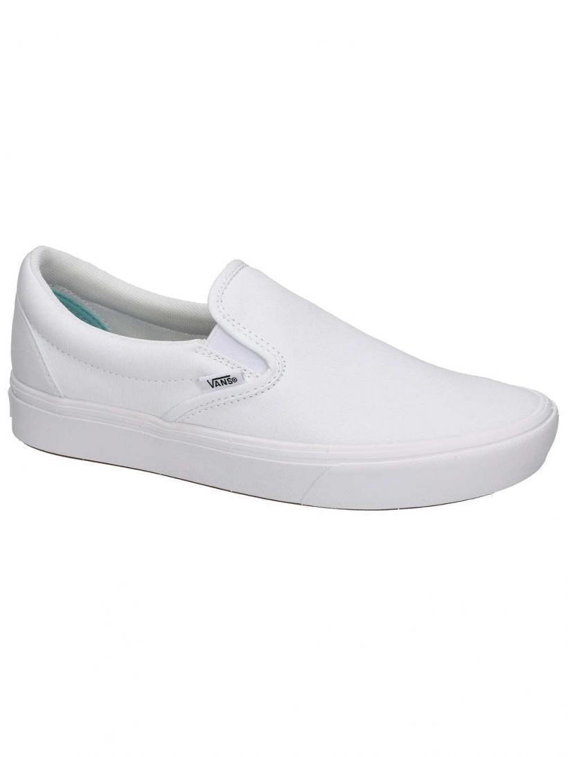Vans Classic ComfyCush Slip-Ons True White/True | Mens/Womens Slip-Ons