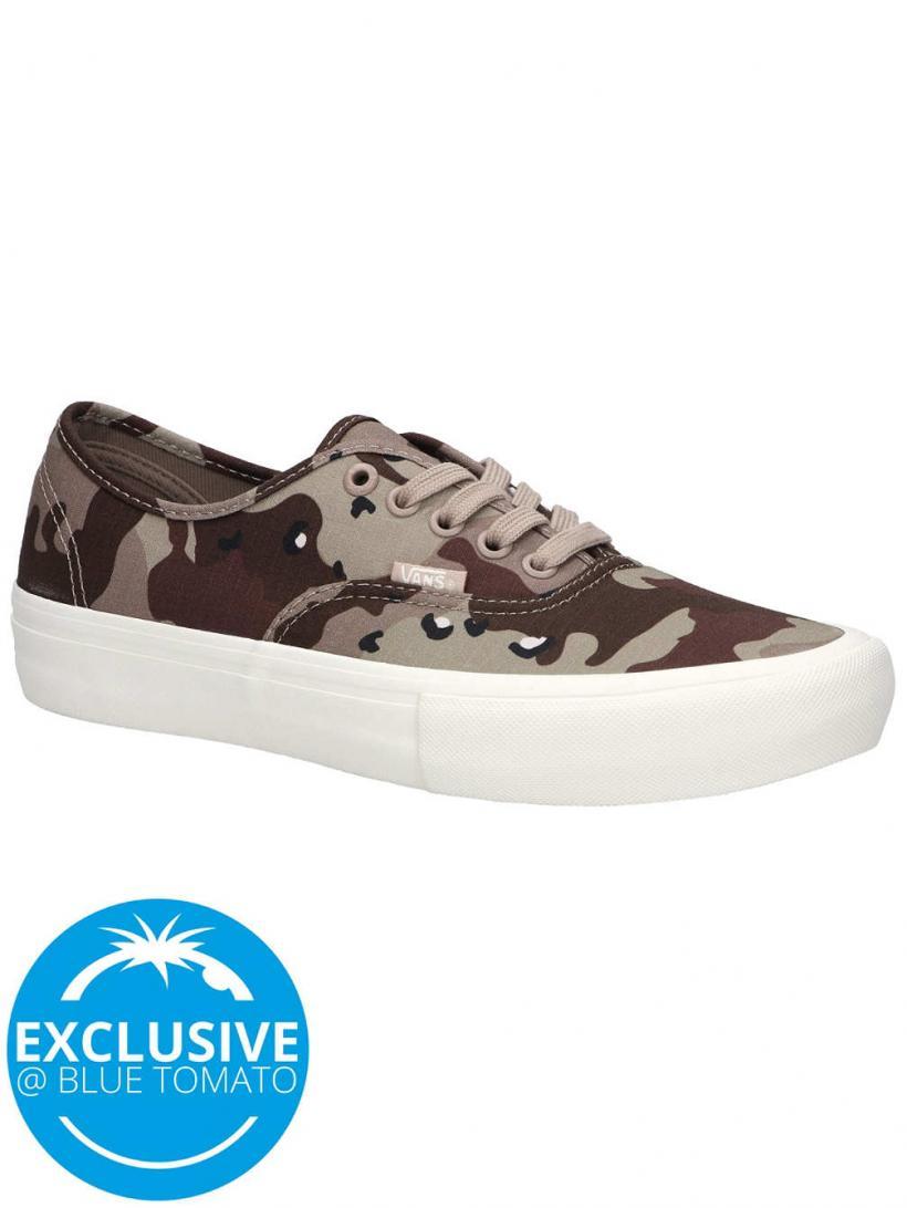 Vans Desert Camo Authentic Pro Stucco/Marshmallow | Mens Skate Shoes
