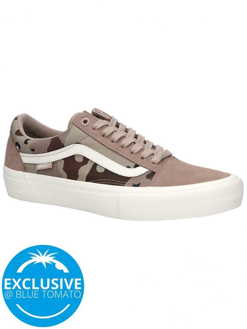 Vans Desert Camo Old Skool Pro Stucco/Marshmallow | Mens Skate Shoes