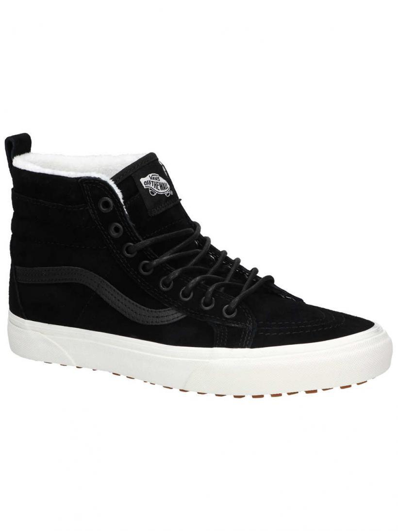 Vans MTE Sk8-Hi Black/Black/Marshmallow | Mens/Womens Winter Shoes
