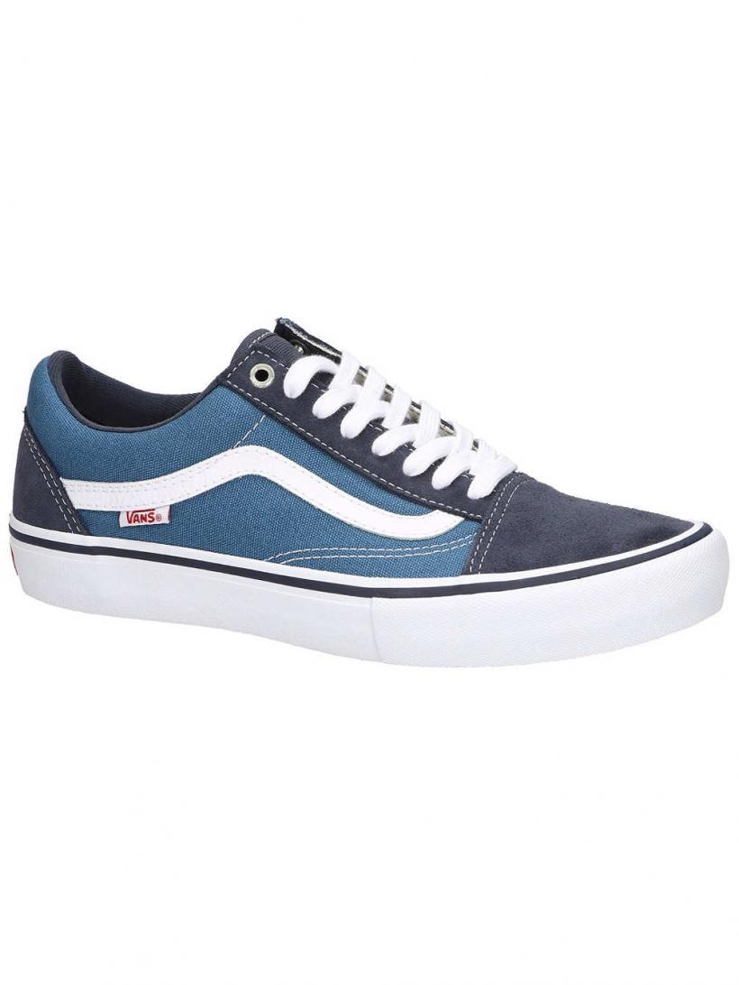 Vans Old Skool Pro Navy/Stv Navy/White | Mens Skate Shoes