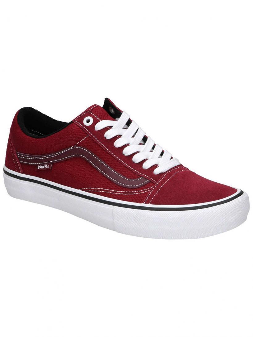 Vans Old Skool Pro Rumba Red/True White | Mens Skate Shoes