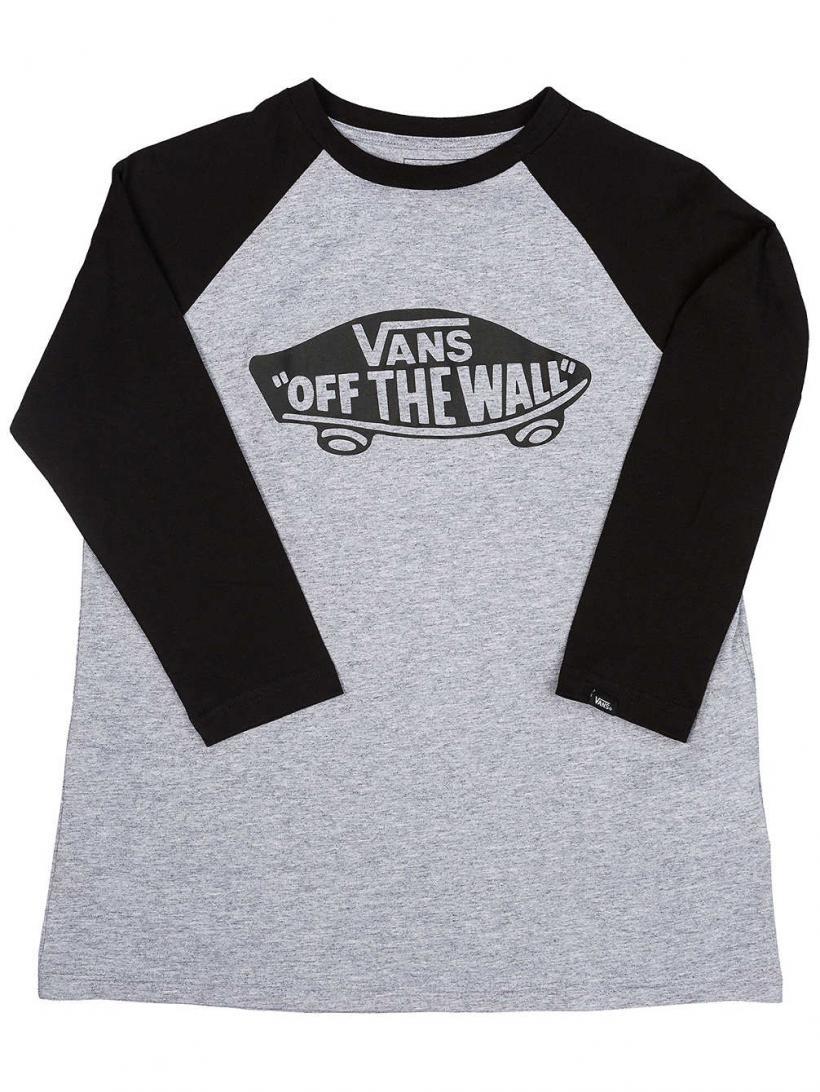 Vans Otw Raglan Long Sleeve T-Shirt Athletic Heather/Black | Mens Longsleeves