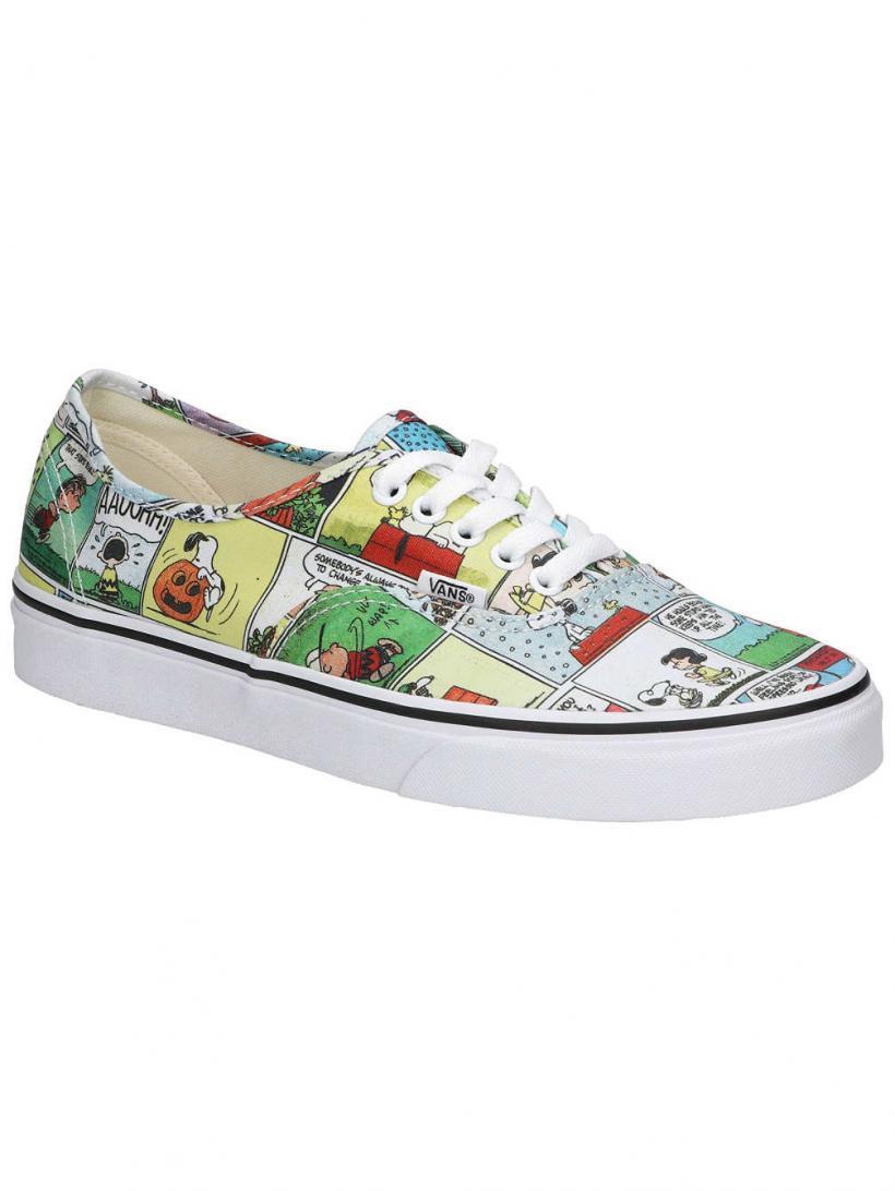 Vans Peanuts Authentic Comics/Black/True White | Mens Sneakers