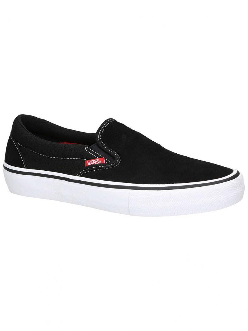 Vans Pro Slip-Ons Black/White/Gum | Mens Slip-Ons