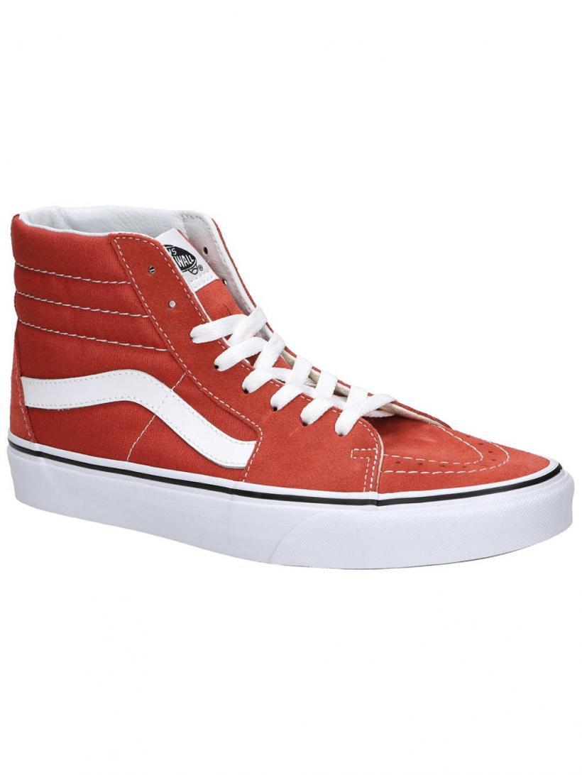 Vans Sk8-Hi Hot Sauce/True White | Mens/Womens Sneakers