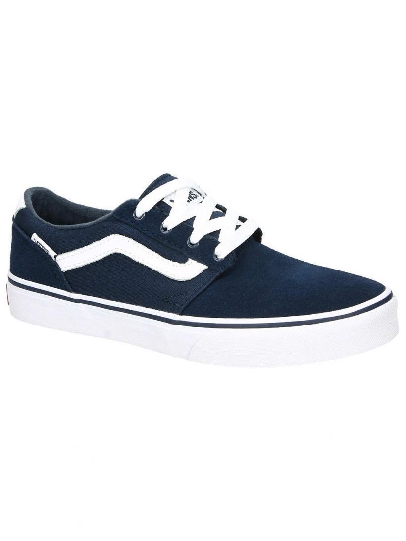 Vans Suede & Canvas Chapman Stripe Dress Blue   Mens Sneakers