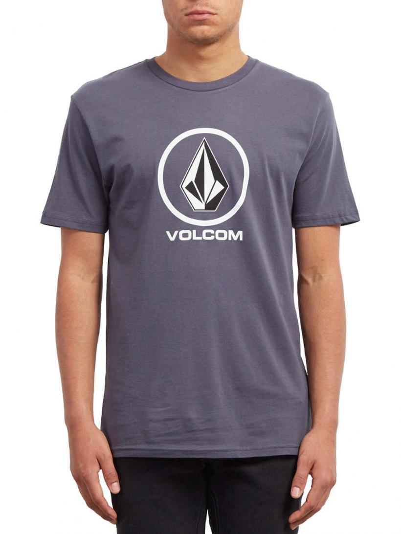 Volcom Crisp Stone Basic T-Shirt Midnight Blue | Mens T-Shirts