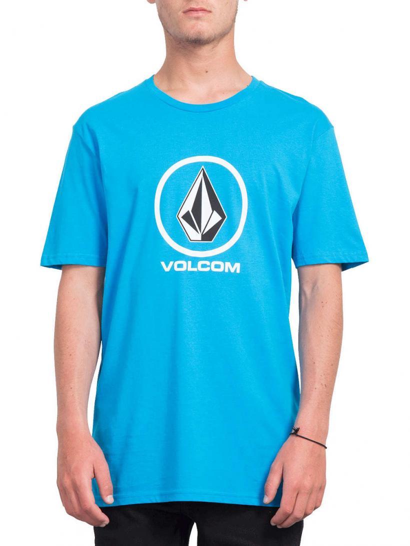 Volcom Crisp Stone Bsc T-Shirt Cyan Blue | Mens T-Shirts