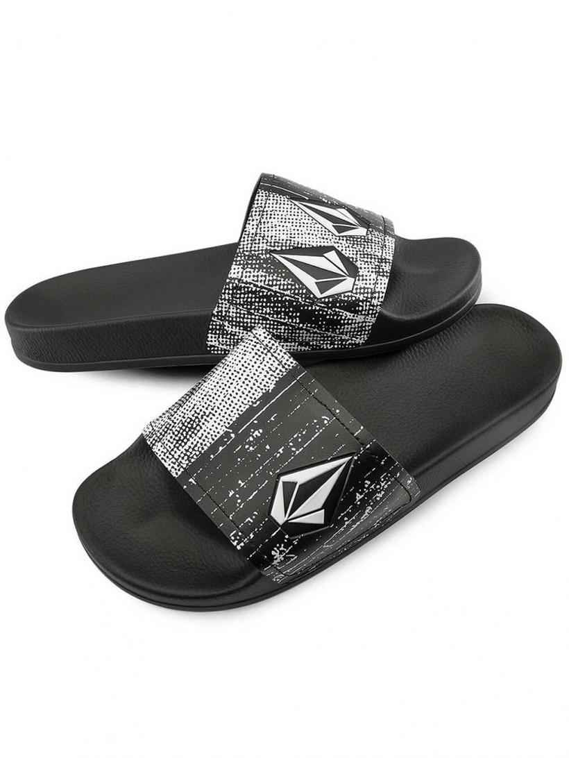 Volcom Dont Trip Slip-Ons Black White | Mens Slip-Ons