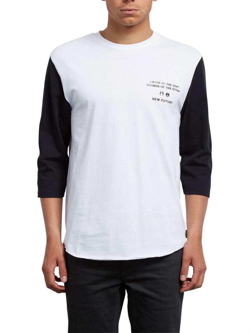 Volcom Enabler Hw 3/4 Long Sleeve T-Shirt White | Mens Longsleeves