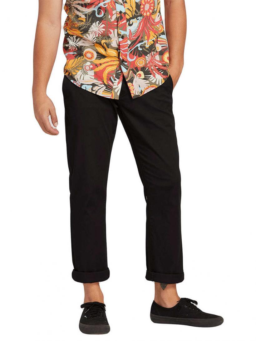 Volcom Frickin Modern Stretch Pants Black | Mens Chino Pants