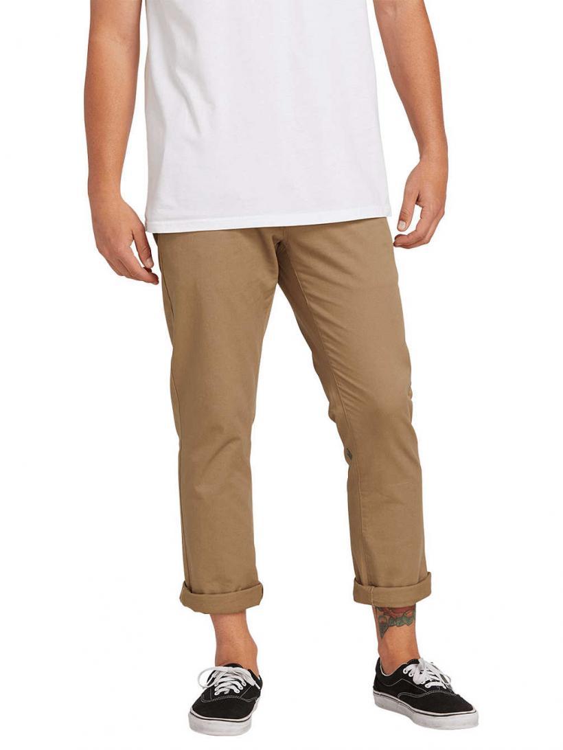 Volcom Frickin Slim Chino Pants Dark Olive | Mens Chino Pants