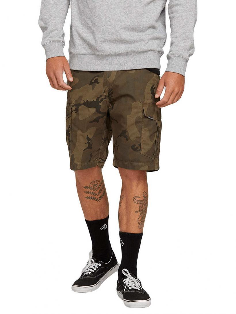 Volcom Miter II Cargo Shorts Camouflage   Mens Shorts
