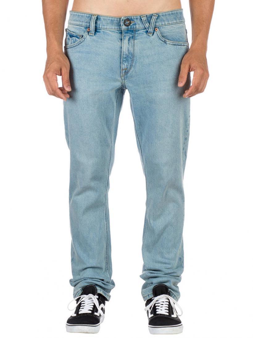 Volcom Vorta Jeans Allover Stone Light | Mens Jeans