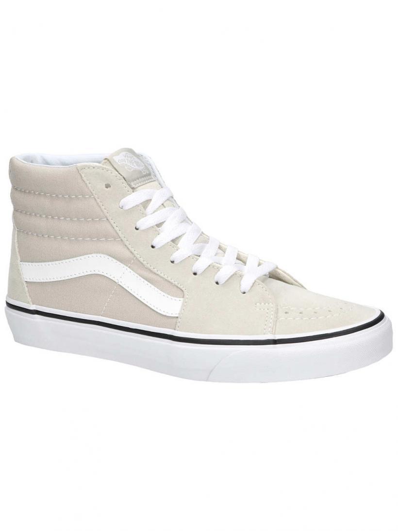 Vans Sk8-Hi Silver Lining/True White   Mens Sneakers