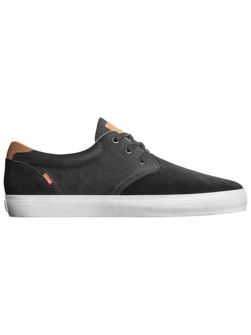 Globe Willow Black/Woodsmoke Brown   Mens Skate Shoes
